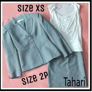 Tahari Suit and Blouse    size 2P & blouse xsmall